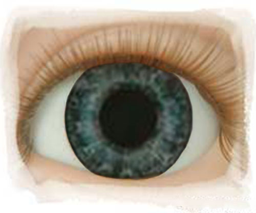 Real Eyes 18mm Newborn Dark Blue
