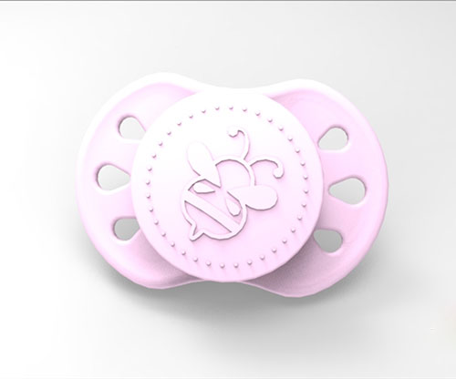 Sweetdreams Pacifier - Marshmallow with Magnet (Pink)