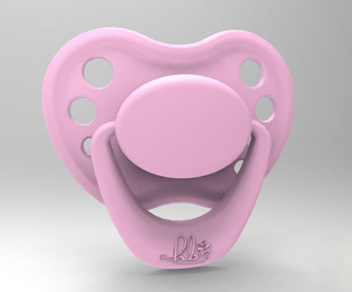 Sweetheart Pacifier - Piggy Pink with Magnet