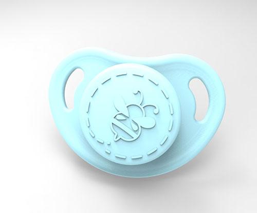 Cutiepie Micro Preemie Pacifier - Sky Blue with Magnet