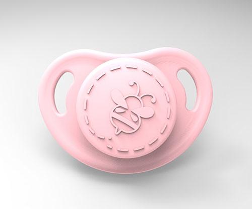 Cutiepie Micro Preemie Pacifier - Baby Pink  with Magnet