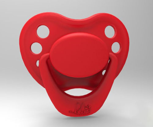 Sweetheart Pacifier - Sweetheart Red with Magnet