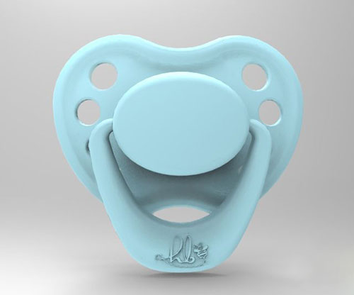 Sweetheart Pacifier - Sky Blue with Magnet