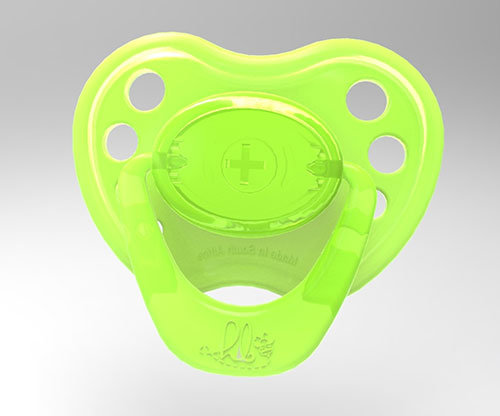 Sweetheart Pacifier - Summer Lime with Magnet