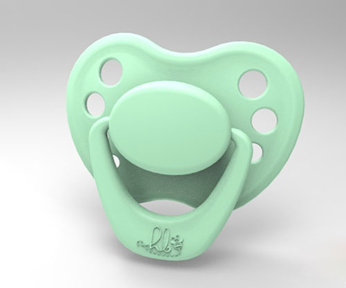 Sweetheart Pacifier - Minty with Magnet