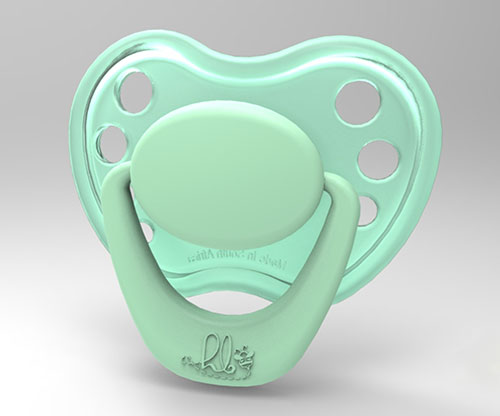 Sweetheart Pacifier - Miss Minty with Magnet