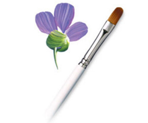 Brushes - Royal Golden Taklon Filbert - Size 8