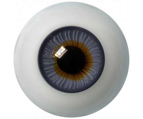 Lauschaer Glass Eyes - Blue Grey 20mm, Flat Back