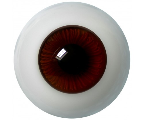 Lauschaer Glass Eyes - Chocolate Brown 20mm, Flat Back