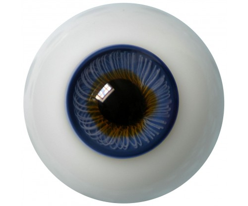 Lauschaer Glass Eyes - Dark Blue 20mm, Flat Back