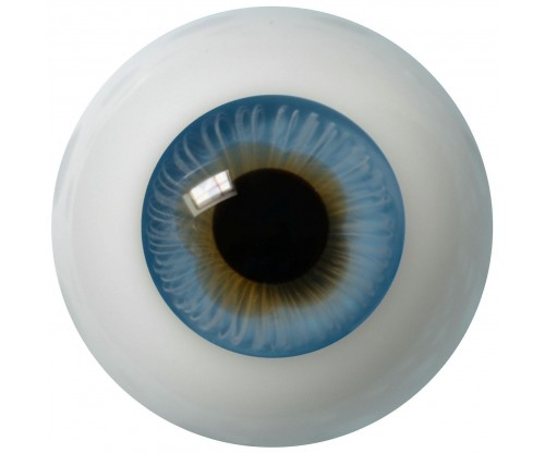 Lauschaer Glass Eyes - Middle Blue 22mm, Flat Back
