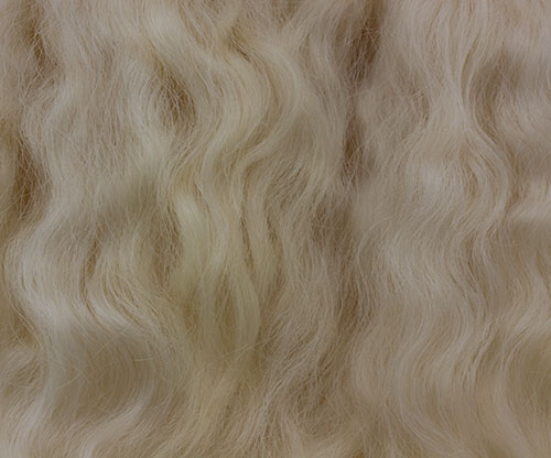 Pixie Kissed Mohair - Curly - Dark Golden Blonde